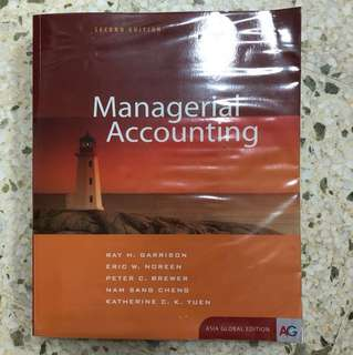 Managerial Accounting second edition Ray H. Garrison