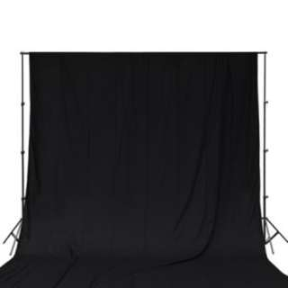 Rent Portable backdrop stand with BLACK muslin cloth rental only