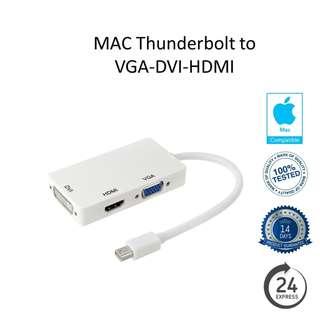 Thunderbolt / Mini DP to VGA / DVI / HDMI Adapter