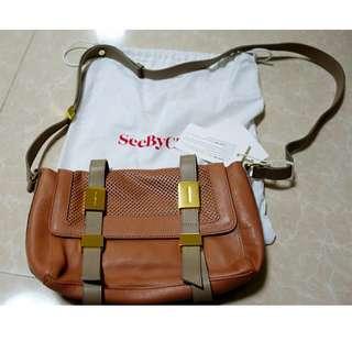 [全新] See by Chloe Erin Leather Shoulder Bag (Nougat)