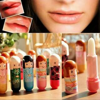 Lovely Cartoon Kimono Doll Lip Balm Color Random Moisturizing Lipstick Women/Kid Makeup Moisturizing Lip Balm Lipgloss Lip Care