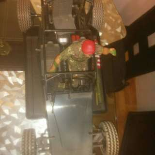 12 inch. GI joe Doll with sand buggy vehicle