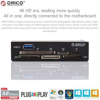 Brand New! ORICO All-In-One Internal USB3.0 Memory Card Reader - $22