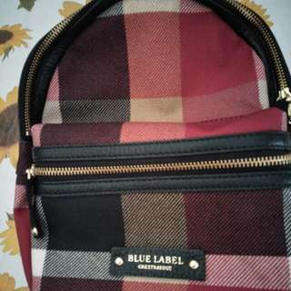 authethic blue label bag pack...