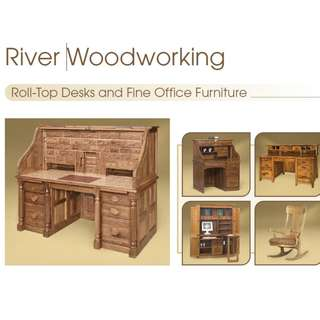River Woodworking Roll Top Desks and Fine Office furniture
