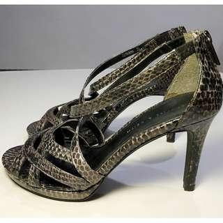 Charles and Keith Snake Skin Heels