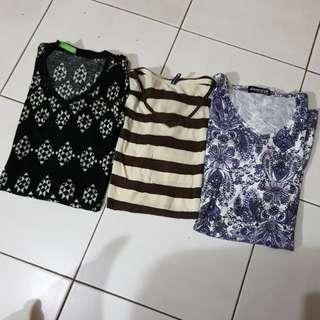 V neck pattern 3pcs