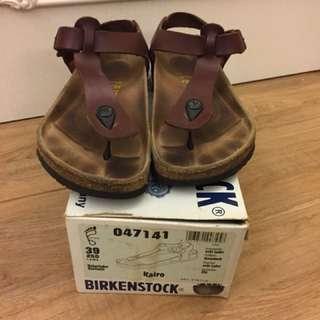 Birkenstock kairo 伯肯T字全真皮女款女鞋涼鞋夾腳拖