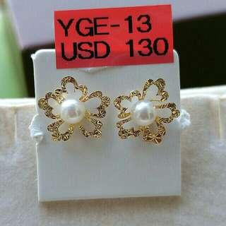 18k金日本珍珠耳環,日本製造