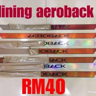 lining aeroback & door visor wira
