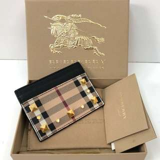 Burberry card holder ghw studded excellent condition