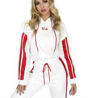 I.AM.GIA style printed red tracksuit
