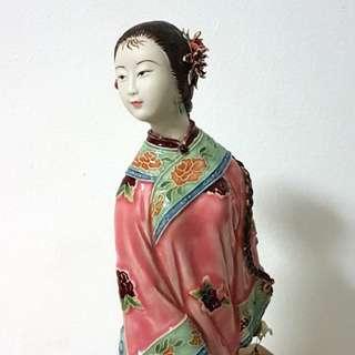 石湾精品 林伟东 欢乐今宵. Shiwan Porcelain Doll by Lin Wei Dong. (For sharing only)