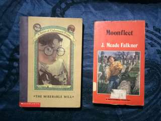 The Miserable Mill (#4 A Series of Unfortunate Events) & Moonfleet