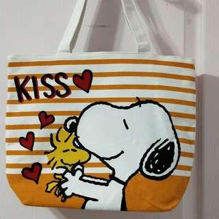 【二手】Snoopy 帆布肩背包