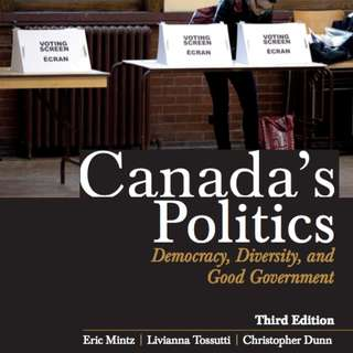 Canada's Politics: Democracy, Diversity & Good Government PDF