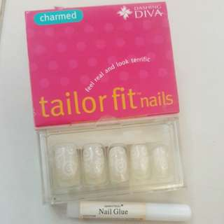 tailor fit nails with designs