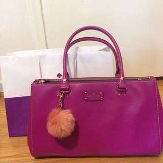 77% off Kate spade leather bag