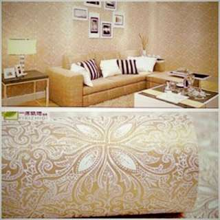 Wallpaper sticker batik coklat