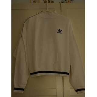 Adidas Originals 飛鼠袖小高領刷毛上衣(尺寸32)
