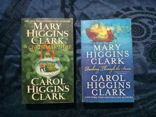 Mary Higgins Clark and Carol Higgins Clark Christmas book bundle