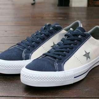 Converse one star pro suede beige navy