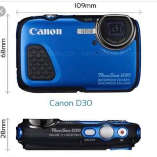 Canon D30 Water proof underwater camera