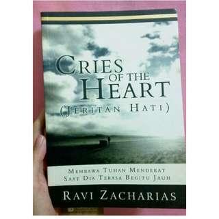 Buku Kristen Cries of the Hearts by Ravi zacharians