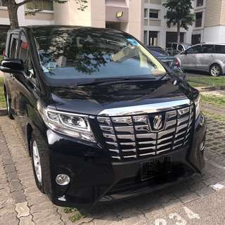 2015 Alphard 8 seater for lease