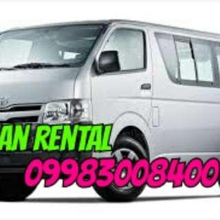 Van rental 09983008400