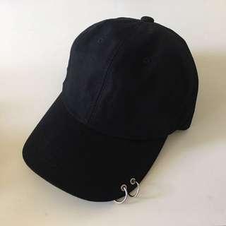 Korea🖤black cap / hat with rings