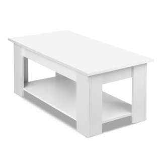 Lift-up Coffee Table with Hidden Storage White SKU: FURNI-E-COF-LIFT-WH