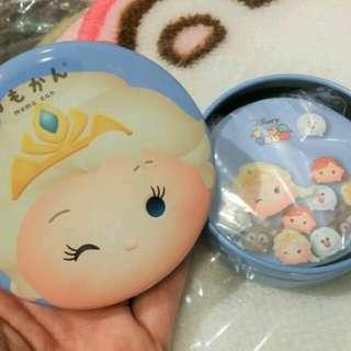 100% 原裝日本 迪士尼 Disney 魔雪奇緣  Frozen Elsa 愛莎 罐仔 可對摺 Memo 紙 便利紙 日本制
