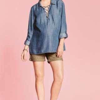 Next Tan Maternity Chino shorts
