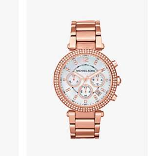 Micheal kors watch rose gold msg anyoffers