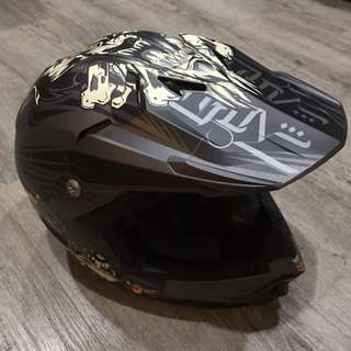 HJC Motorcross Full Face Helmet, not Airoh, Arai, Shoei