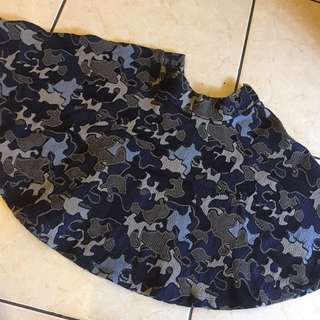 Flare SKIRT - mozaic blue ZARA