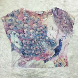 Forever 21 peacock top