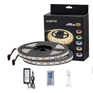 Daybetter Led Strip Light Waterproof 600leds 32.8ft 10m Waterproof Flexible Color Changing RGB SMD 5050 600leds LED Strip Light Kit with 44 Keys IR Remote Controller