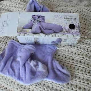 Lavender neck pillow & booties
