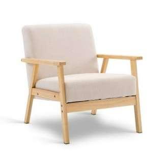 Fabric Dining Armchair Beige SKU: UPHO-C-SOFA-8033-BG
