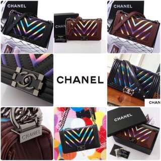 CHANEL BOY IRIDESCENT CHEVRON