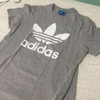 Grey ADIDAS T-shirt White Logo