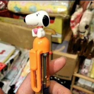 100% 原裝日本 USJ 環球影城 Snoopy 系列 史路比 多色原子筆 5色原子 加 鉛芯筆 Pen