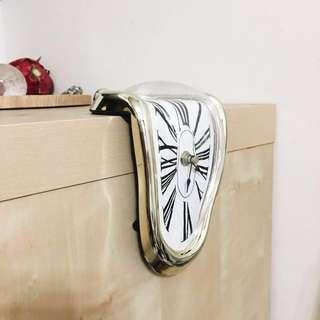 達利 超現實 融化的時鐘 金色