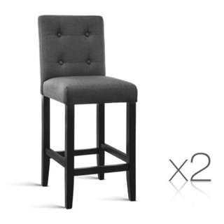 Set of 2 French Provincial Dining Chair Charcoal Grey SKU: FA-CHAIR-BAR-CHAX2