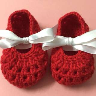 Custom made baby booties