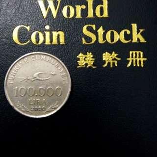 Coin 100.000 lira turky th 2000