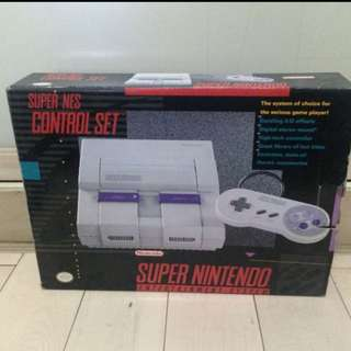 Super Nintendo Entertainment System console (Original)