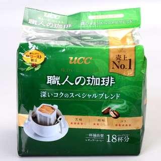 UCC 職人濾泡式咖啡 綠色(7gx18入)